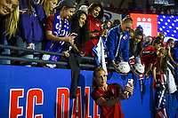 Frisco, TX - April 6, 2017: The U.S. Women's national team defeat Russia 4-0 with Allie Long adding two goals in an international friendly match at Toyota stadium.