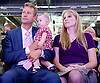 UKIP National Party Conference <br /> Day 2<br /> at Doncaster Race Course, Doncaster, Great Britain <br /> 27th September 2014 <br /> <br /> Nathan Gill MEP<br /> and his wife Jana and baby <br /> <br /> <br /> <br /> Photograph by Elliott Franks <br /> Image licensed to Elliott Franks Photography Services