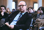 GERRY FITT AT TRADE UNION CONFERENCE  BELFAST, Sir Gerry Fitt, founder of the SLDP and MP for West Belfast,