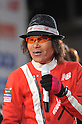 Kanpei Hazama, JANUARY 22, 2011 : Japanese Comedian Kanpei Hazama finishes earth-marathon in Osaka, Japan. He ran around the world. (Photo by Atsushi Tomura/AFLO SPORT) [1035]