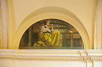 Hand Painted Mural, Senate Chamber, at the New Jersey Legislative State House, Trenton, New Jersey