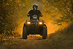 Quad riding at sunset in rural Auburn, California.