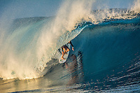 Namotu Island Resort, Fiji. Sunday February 8 2015) Ben Dunsmore (AUS) surfing Cloudbreak- The surf  this morning was in the 4'- 6' range. Cloudbreak was the pick spot but Restaurants was also breaking in the 3' range.  Photo: joliphotos.com
