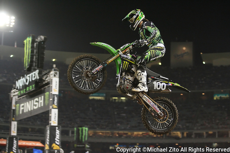 01/22/11 Los Angeles, CA: Josh Hanson during the1st ever AMA Supercross held at Dodger Stadium.