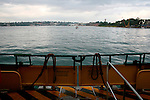 Travelling on a Sydney Ferry in the Sydney Harbour.