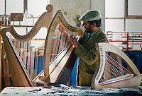 Welsh Harp Maker, Merlyn Maddock,  United Kingdom