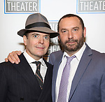 Jefferson Mays and Adam Dannheisser attend the Opening Night Performance press reception for the Lincoln Center Theater production of 'Oslo' at the Vivian Beaumont Theater on April 13, 2017 in New York City.