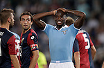Calcio, Serie A: Lazio vs Genoa. Roma, stadio Olimpico, 23 settembre 2012..Lazio defender Michael Ciani, of France,  reacts after missing a scoring chance during the Italian Serie A football match between Lazio and Genoa at Rome's Olympic stadium, 23 September 2012..UPDATE IMAGES PRESS/Riccardo De Luca