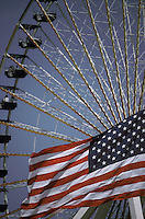 US flag ferris wheel Americana