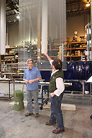 Seattle Opera Insiders' Series: Scenic Elements tour of Scenic Studios. Michael Moore, manager, and Bruce Warshaw, Master Scenic Carpenter.