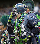 Seattle Seahawks 12th Man fan  at QWEST Field in Seattle. Jim Bryant Photo. ©2010. All Rights Reserved