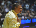 "Southern Mississippi coach Larry Eustachy makes a point against Mississippi at C.M. ""Tad"" Smith Coliseum in Oxford, Miss. on Saturday, December 4, 2010."