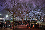Spectators line-up pre-dawn to secure spots to view the presidential inauguration, January 21, 2013.