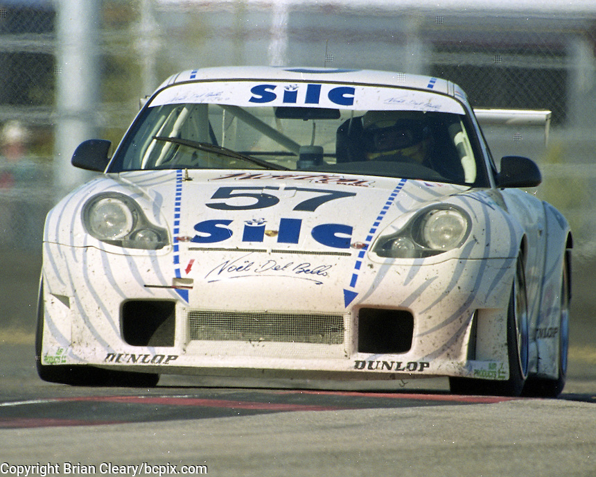 The #57 Porsche ((^ GT3R of Jean-Luc Maury-Laribiere, Paschal Fabre, Bernard Chauvin, Patrick Cruchet, and Rael (Claude Vorilhon) races to a 34th place finish in the Rolex 24 at Daytona, Daytona International Speedway, Daytona Beach, FL, February 2000.  (Photo by Brian Cleary/www.bcpix.com)