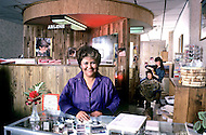 "May 6th to 13th, 1985 in Navajo Reserve, AZ. The only womens hair parlour is run by Arlene Arviso, ""Natural Concept Salon"". She also runs the only flower store in Window Rock, AZ."