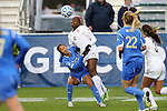 08 December 2013: Florida State's Jamia Fields (4) and UCLA's Caprice Dydasco (left). The Florida State University Seminoles played the University of California Los Angeles Bruins at WakeMed Stadium in Cary, North Carolina in a 2013 NCAA Division I Women's College Cup championship game.