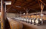 Peru, Bodega Ocucaje, Winery And Vineyards, Barrels Of Aging Wines, Ocucaje Desert