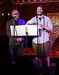 David Yazbek and Itamar Moses  attends 2017 New York Drama Critics' Circle Awards Reception at Feinstein's/54 Below on May 18, 2017 in New York City.