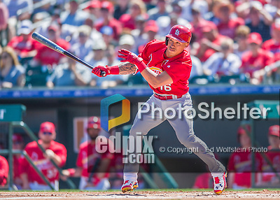 6 March 2016: St. Louis Cardinals infielder Kolten Wong in action during a Spring Training pre-season game against the Washington Nationals at Roger Dean Stadium in Jupiter, Florida. The Nationals defeated the Cardinals 5-2 in Grapefruit League play. Mandatory Credit: Ed Wolfstein Photo *** RAW (NEF) Image File Available ***
