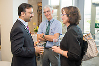 Omar Khan, M.D., left, Thomas Peterson, M.D., Betsy Sussman, M.D. Reunion 2013.