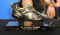 20170208 – LINT ,  BELGIUM : Golden Shoe 2017 pictured during the  63nd men edition of the Golden Shoe award ceremony and 1st Women's edition, Wednesday 8 February 2017, in Lint AED studio. The Golden Shoe (Gouden Schoen / Soulier d'Or) is an award for the best soccer player of the Belgian Jupiler Pro League championship during the year 2016. The female edition is a first in Belgium.  PHOTO DIRK VUYLSTEKE   Sportpix.be