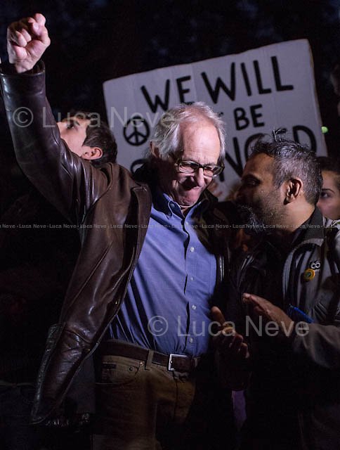 Ken Loach (English film and television director).<br /> <br /> Day VII - 23.10.2014 <br /> <br /> London 17-26.10.2014. A day at the Parliament Square Occupy Democracy Camp in London. Protesters have been camping in Parliament Square since the 17th of October and they will leave on Sunday the 26th. Since the beginning of the direct action protesters have been battling with the MET Police and the Greater London Authority's Heritage Wardens (provided under private contract by AOS Security) over the specific bylaw which applies to a designated area immediately surrounding and including Parliament Square and which bans sleeping equipment. Several people have been arrested, including the Green Party's Baroness Jenny Jones, member of the London Assembly who was later &quot;de-arrested&quot;. In the meantime, numerous celebrities, politicians, experts, activists, and members of the public met for conferences and debates about various topics, from democracy to climate change, to the economic crisis, to corruption, to poetry and many more.<br /> <br /> For more information please click here: http://occupydemocracy.org.uk/ &amp; http://on.fb.me/12tuv79