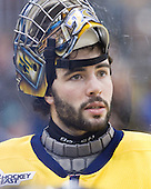 Nick Drew (Merrimack - 29) - The University of Notre Dame Fighting Irish defeated the Merrimack College Warriors 4-3 in overtime in their NCAA Northeast Regional Semi-Final on Saturday, March 26, 2011, at Verizon Wireless Arena in Manchester, New Hampshire.