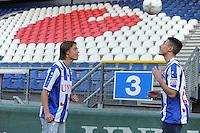 VOETBAL: HEERENVEEN: Abe Lenstra Stadion 02-01-2015, SC Heerenveen nieuwe spelers Simon Thern (Sweed) en Younes Namli (20) (Deen), ©foto Martin de Jong