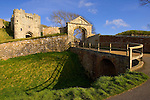 Carisbrooke Castle. Moat Isle of Wight