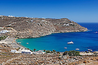 Super Paradise is one of the most famous beaches in Mykonos, Greece
