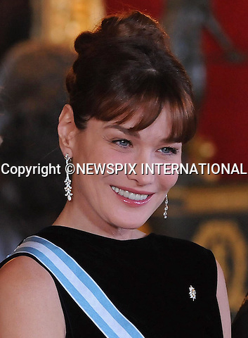 "CARLA BRUNI.attends a Gala hosted by King Juan Carlos, Queen Sofia, Prince Felipe and Princess Letizia, Zarzuela Palace, Madrid_27/4/2009.Mandatory Credit Photo: ©NEWSPIX INTERNATIONAL..**ALL FEES PAYABLE TO: ""NEWSPIX INTERNATIONAL""**..IMMEDIATE CONFIRMATION OF USAGE REQUIRED:.Newspix International, 31 Chinnery Hill, Bishop's Stortford, ENGLAND CM23 3PS.Tel:+441279 324672  ; Fax: +441279656877.Mobile:  07775681153.e-mail: info@newspixinternational.co.uk"