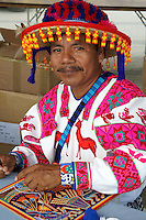 Huichol Indian artisan at the Mexico Fest 2012 celebrations on Sept. 8, 2012 in Vancouver, British Columbia, Canada. These celebrations commemorated 202 years of Mexican Independence.