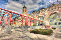 The exterior of the Ellis Island Immigration Museum.  The Museum is part of the Statue of Liberty National Monument.
