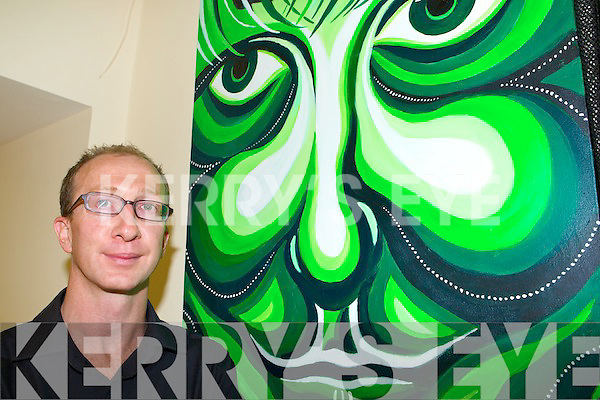 Jason Griffin with one of his paintings   Copyright Kerry's Eye 2008