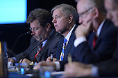 March 14, 2013  (National Harbor, MD)  U.S. Senator Lindsey Graham, R-SC, (center) speaks to attendees of the 2013 Conservative Political Action Conference (CPAC).  (Photo by Don Baxter/Media Images International)