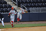 Western Kentucky's Casey Dykes (16) catches a Ole Miss' Matt Snyder (33) pop-up at Oxford-University Stadium in Oxford, Miss. on Wednesday, March 9, 2010.