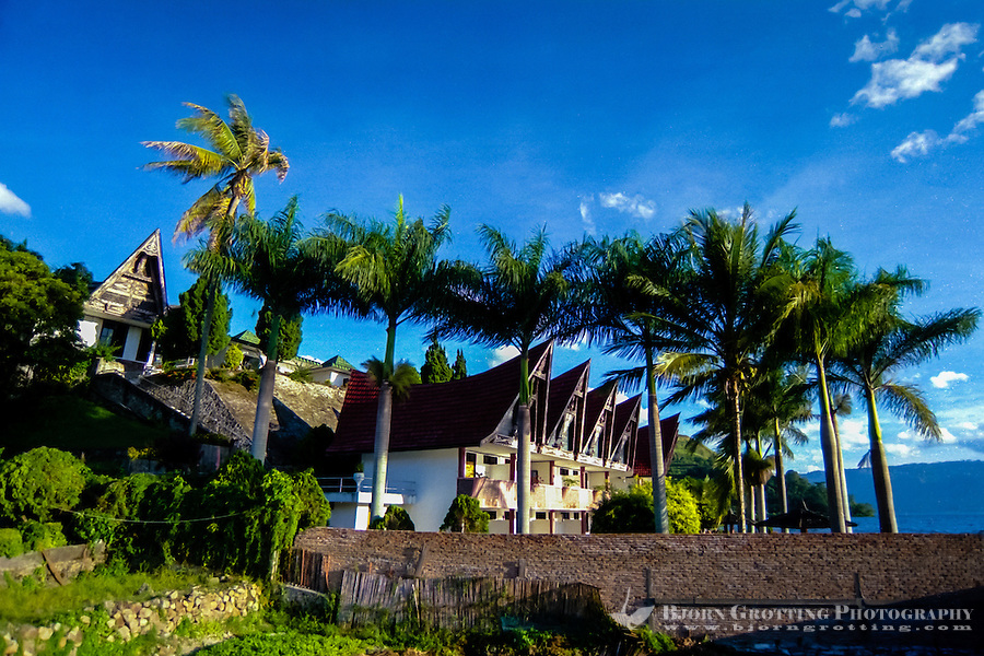 Indonesia, Sumatra. Parapat. Parapat is a popular resort town for Indonesians, especially among rich people from Medan. Westerners normally prefer to head directly to Samosir.
