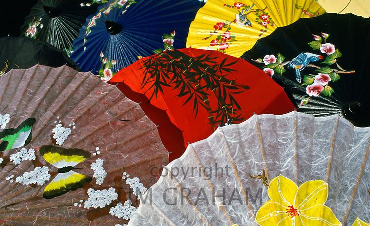 Painted umbrellas, Chiang Mai, Thailand.