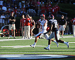 Jacksonville State quarterback Coty Blanchard (11) passes for a tuchdown on 4th and 15 in the second overtime at Vaught-Hemingway Stadium in Oxford, Miss. on Saturday, September 4, 2010. Jacksonville State won 49-48 in double overtime.