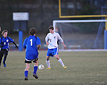 Oxford's Baxter Elliott (10) vs. Saltillo in boys high school soccer action at Oxford High School in Oxford, Miss. on Thursday, January 27, 2011.