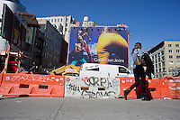 A Calvin Klein billboard in the Soho neighborhood of New York on Wednesday, April 4, 2012. Klein's advertisements use sex and provocative images to test society's cultural and moral boundaries. (© Richard B. Levine)