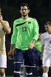 17 October 2014: Notre Dame's Chris Hubbard. The Duke University Blue Devils hosted the Notre Dame University Fighting Irish at Koskinen Stadium in Durham, North Carolina in a 2014 NCAA Division I Men's Soccer match. Notre Dame won the game 4-1.