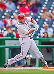 21 May 2014: Washington Nationals outfielder Kevin Frandsen in action against the Cincinnati Reds at Nationals Park in Washington, DC. The Reds edged out the Nationals 2-1 to take the rubber match of their 3-game series. Mandatory Credit: Ed Wolfstein Photo *** RAW (NEF) Image File Available ***
