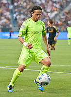 CARSON, CA – July 4, 2011: Seattle Sounders midfielder Mauro Rosales (10) during the match between LA Galaxy and Seattle Sounders FC at the Home Depot Center in Carson, California. Final score LA Galaxy 0, Seattle Sounders FC 0.