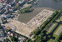 BUGA 2009: EUROPA, DEUTSCHLAND, MECKLENBURG VORPOMMERN, SCHWERIN  (GERMANY), 15.05.2008:Deutschland, Mecklenburg Vorpommern, Schwerin, Baustelle Bundesgartenschu 2009, Garten des 21. Jahrhunderts, Schloss, See, Luftaufnahme, Luftbild, Luftansicht, .c o p y r i g h t : A U F W I N D - L U F T B I L D E R . de.G e r t r u d - B a e u m e r - S t i e g 1 0 2, 2 1 0 3 5 H a m b u r g , G e r m a n y P h o n e + 4 9 (0) 1 7 1 - 6 8 6 6 0 6 9 E m a i l H w e i 1 @ a o l . c o m w w w . a u f w i n d - l u f t b i l d e r . d e.K o n t o : P o s t b a n k H a m b u r g .B l z : 2 0 0 1 0 0 2 0  K o n t o : 5 8 3 6 5 7 2 0 9.C o p y r i g h t n u r f u e r j o u r n a l i s t i s c h Z w e c k e, keine P e r s o e n l i c h ke i t s r e c h t e v o r h a n d e n, V e r o e f f e n t l i c h u n g n u r m i t H o n o r a r n a c h M F M, N a m e n s n e n n u n g u n d B e l e g e x e m p l a r !.