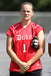 11 September 2011: Duke's Tara Campbell. The Duke University Blue Devils defeated the University of North Carolina at Greensboro Spartans 2-0 at Koskinen Stadium in Durham, North Carolina in an NCAA Division I Women's Soccer game.