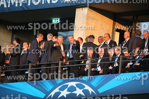 06.06.2015, Olympia Stadion, Berlin, GER, UEFA CL, Juventus Turin vs FC Barcelona, Finale, im Bild Bundespraesident Joachim Gauck, links und DFB Praesident Wolfgang Niersbach // during the UEFA Champions League final match between Juventus FC and Barcelona FC at the Olympia Stadion in Berlin, Germany on 2015/06/06. EXPA Pictures &copy; 2015, PhotoCredit: EXPA/ Eibner-Pressefoto/ Schueler - Pressefoto<br /> <br /> *****ATTENTION - OUT of GER*****