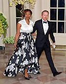 Audie Cornish-Emery, National Public Radio and Theodore Emery arrives for the State Dinner in honor of Prime Minister Trudeau and Mrs. Sophie Gr&eacute;goire Trudeau of Canada at the White House in Washington, DC on Thursday, March 10, 2016.<br /> Credit: Ron Sachs / Pool via CNP