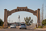 Historic arch over former U.S. Highway 99W, Orland, Calif.