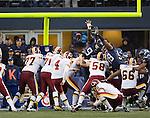Washington Redskins kicker Graham Gano kicks a 25-yard field goal in the fourth quarter at  CenturyLink Field in Seattle, Washington on November 27, 2011. ©2011 Jim Bryant Photo. All Rights Reserved.